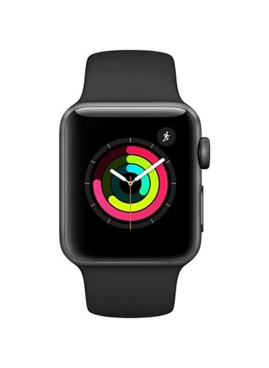 Watch Series 3 GPS 38 mm Uzay Grisi Alüminyum Kasa Siyah Spor Kordon-Apple